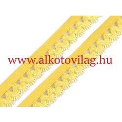 Csipkés gumi CITROMSÁRGA - 15 mm