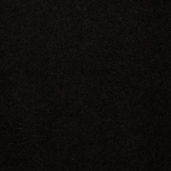 Gyapjúfilc FEKETE 2mm - 60% gyapjú 40% viszkóz- 20x30 cm