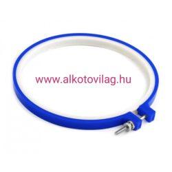 Műanyag hímzőkeret kék színben - 16,5 cm
