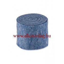 100 % Gyapjúfilc KÉK MELANGE - 15x50 cm
