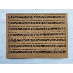 Varrható, mosható papír címke - KÉZZEL KÉSZÜLT MAGYAR TERMÉK felirattal - A5 méretű